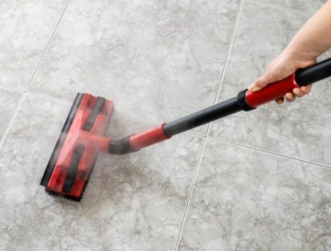 Steam Cleaning a tiled floor